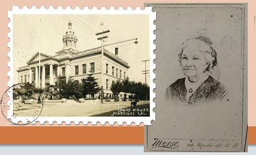 Martinez Courthouse and Dee Lemons Ancestor